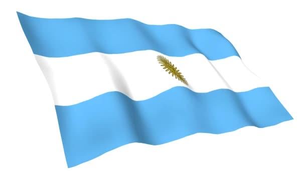 Animated flag of Argentina