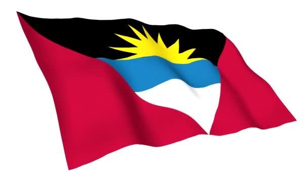Animated flag of Antigua And Barbuda