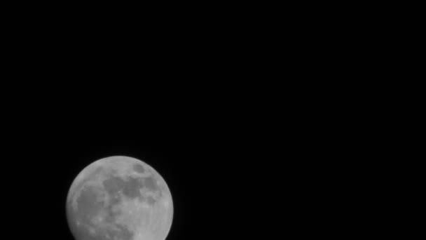 Úplněk time-lapse pohybovat v noci krásné