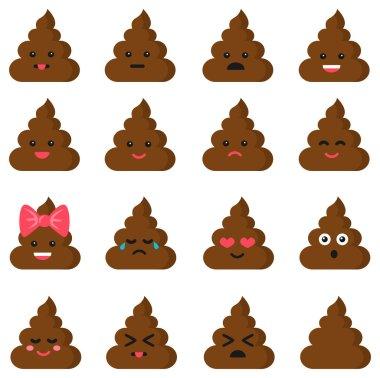 cut poop emoticon smileys