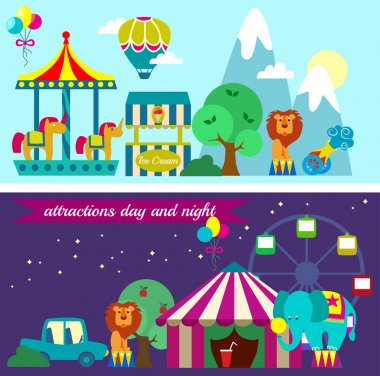 Circus entertainment attractions