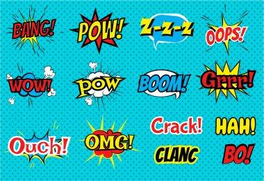 Set of Comic Text, Pop Art style