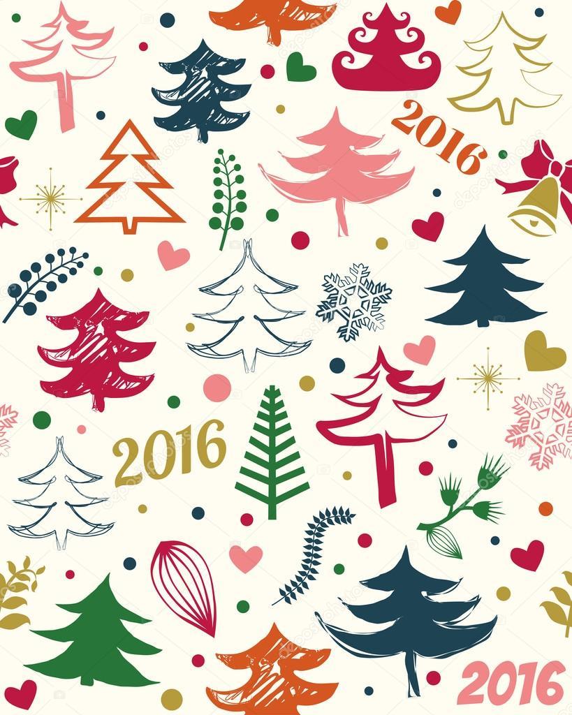 Hermoso patrón sin costuras de Navidad — Vector de stock © Y ...