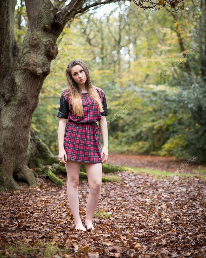 Skinny teen girl spread legs
