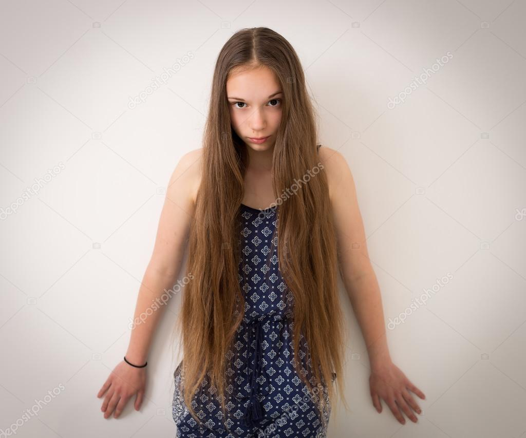 Teenage Girl With Extremely Long Hair
