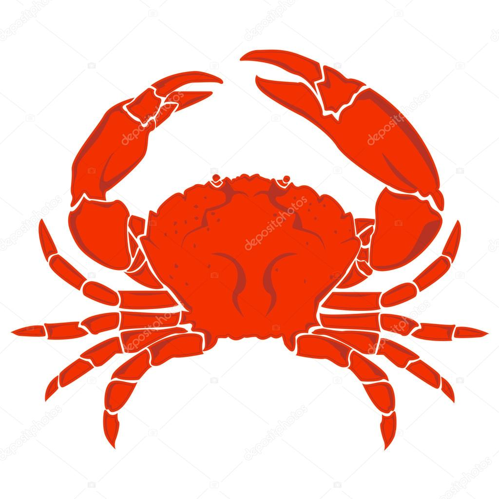 CRAB RED ISOLATED LOGO SIGHN