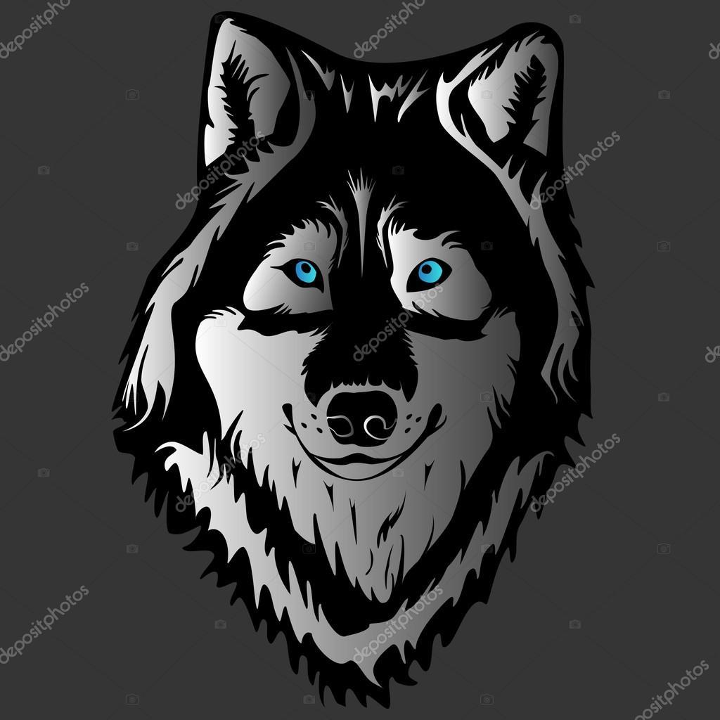 WOLF FACE TATTOO GREY