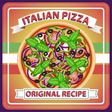 PIZZA RETRO ITALIAN MENU POSTER 6