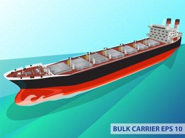 BULK CARRIER SHIP OCEAN COLOR
