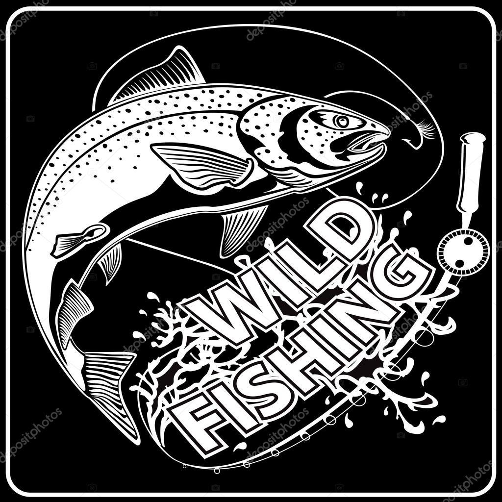 SALMON NEW WILD FISHING BLACK