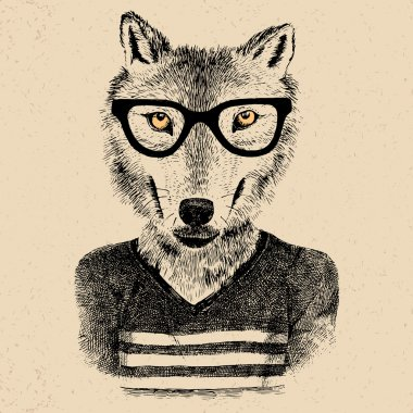 Dressed up wolf