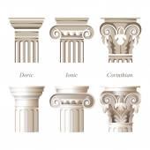 Säulen in verschiedenen Stilen
