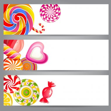 Banners with candies