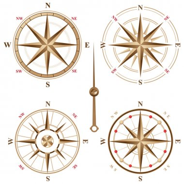 vintage compass icons