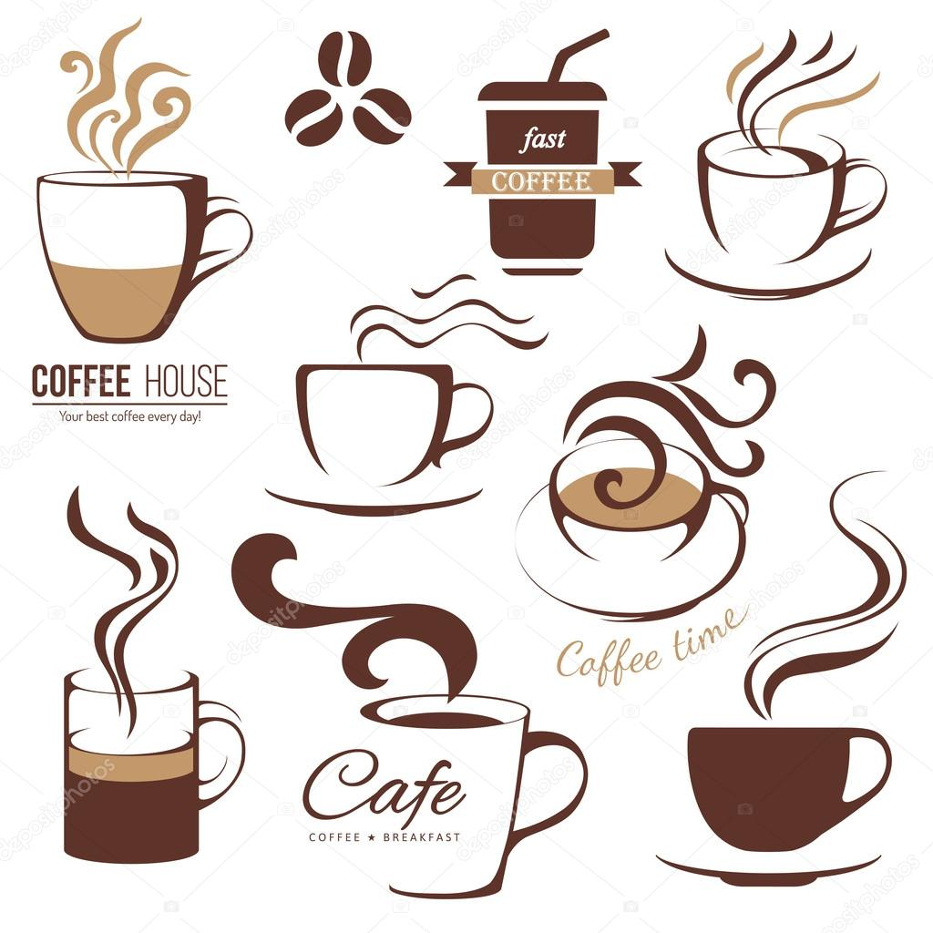 Kaffee und Café Lofo-Vorlagen — Stockvektor © mart_m #60034781