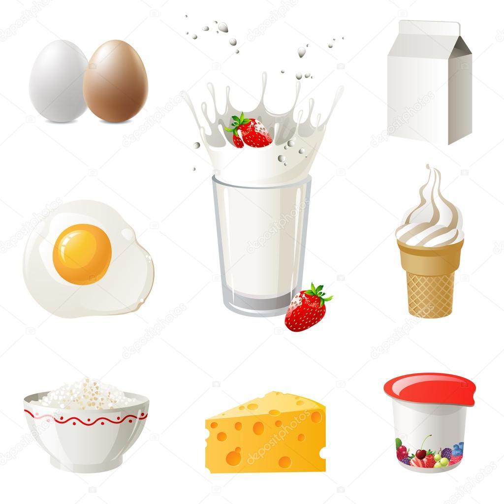 Картинки молочные продукты питания для детей для занятий