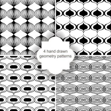 Hand drawn geometry patterns