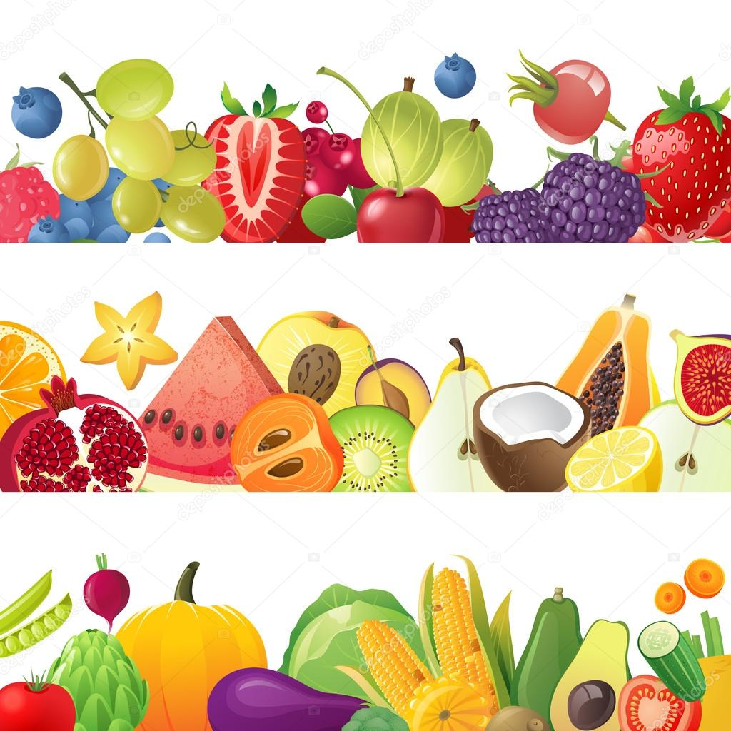 Áˆ Food Clip Art Borders Stock Vectors Royalty Free Fruits Border Illustrations Download On Depositphotos