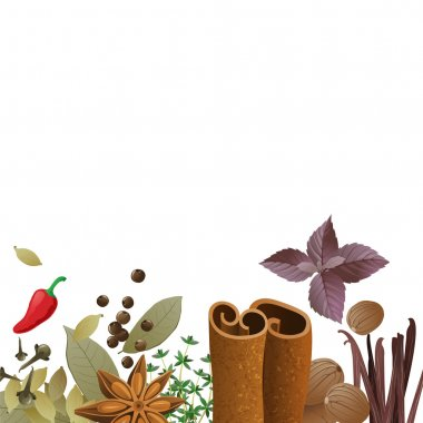 background with spices