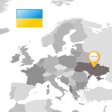 Ukraine on the European map