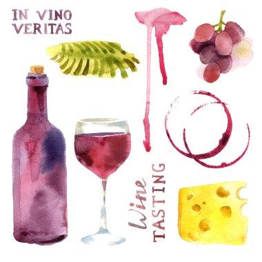 watercolor wine set