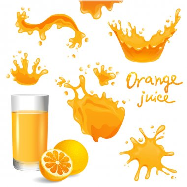 orange juice splashes