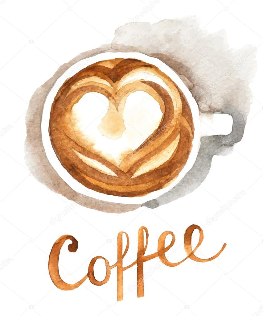 u6c34 u5f69 u7684 u5496 u5561 u676f  u56fe u5e93 u77e2 u91cf u56fe u50cf u00a9 mart m 60052957 coffee cup clip art black and white coffee cup clip art black and white