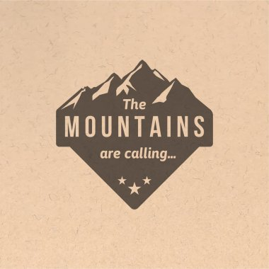 Vintage mountain label