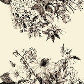 Kézzel rajzolt virágos kártya