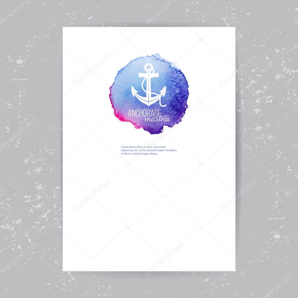 brochure template with anchor logo