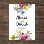 carta di invito di matrimonio con fiori