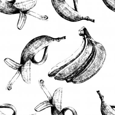 Hand drawn bananas seamless