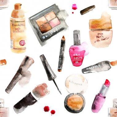 Glamorous make up watercolor cosmetics