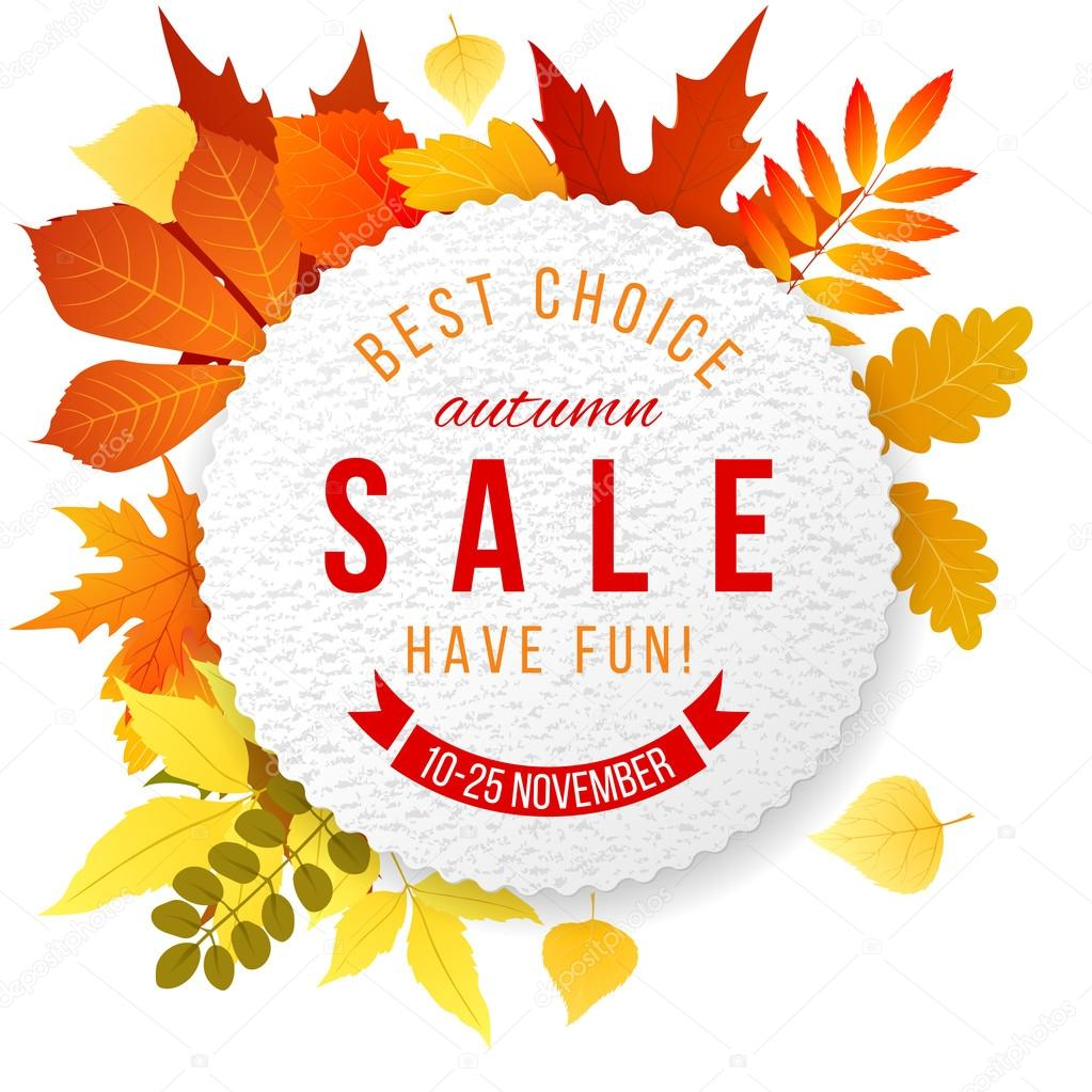 Autumn sales banner