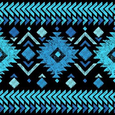 hand drawn tribal seamless pattern
