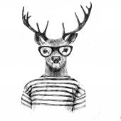 Fotografie Hand drawn dressed up deer