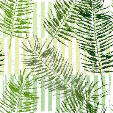 hand drawn tropical leaves seamless