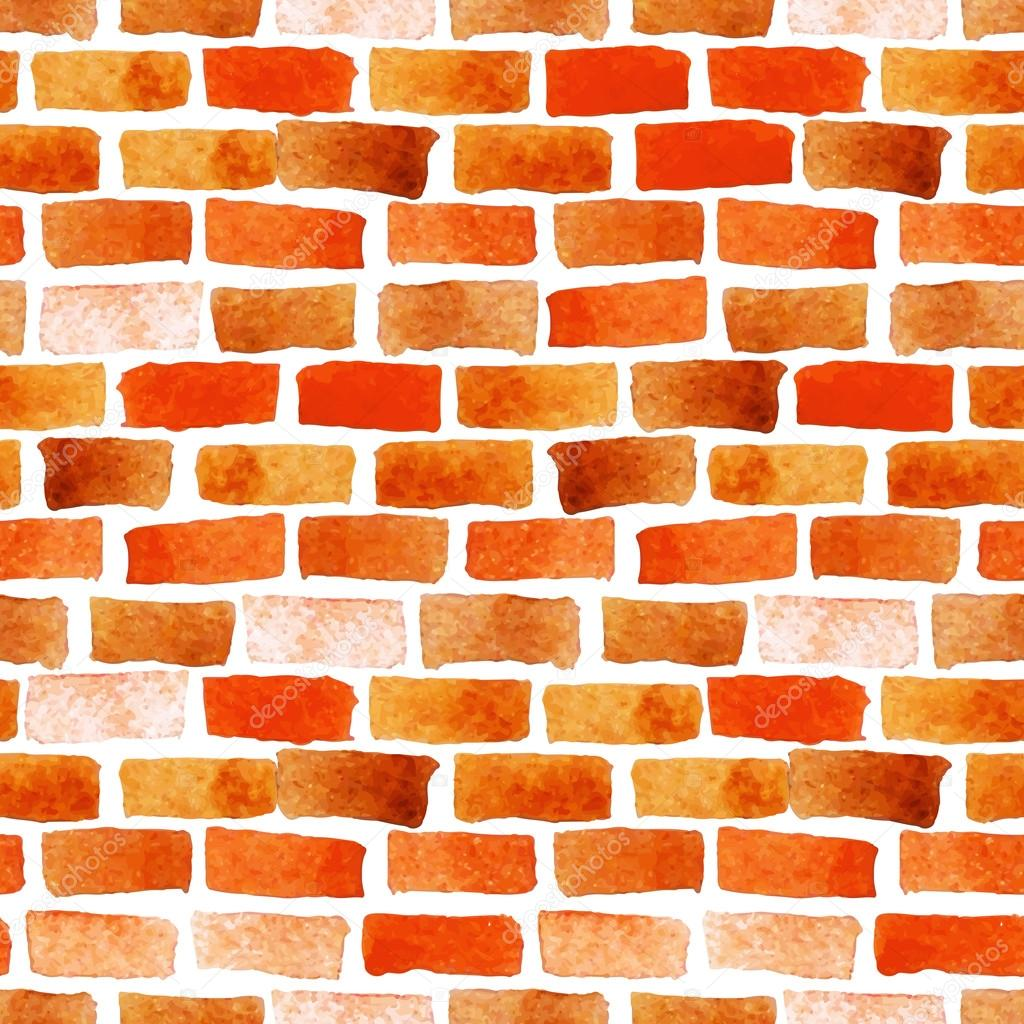 Brick wall watercolor seamless