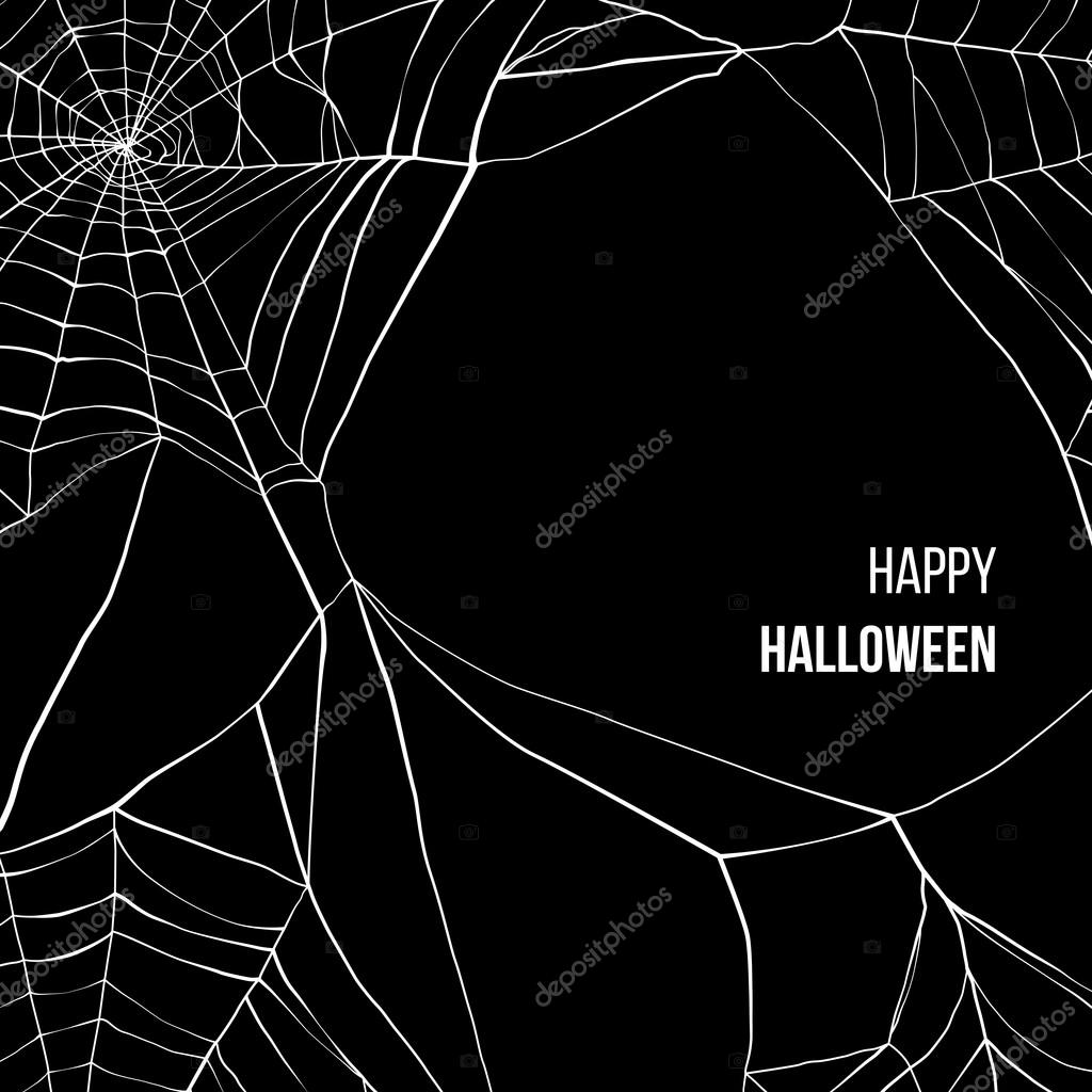 Black background with spider web
