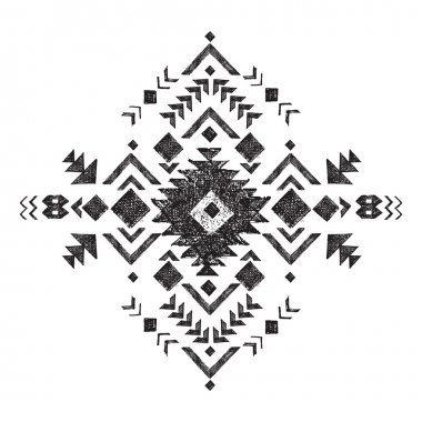 hand drawn tribal design element