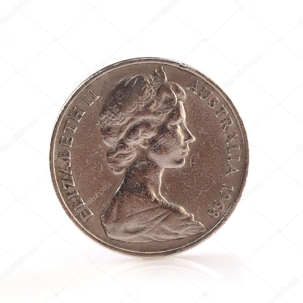 Australischer Dollar Münze Redaktionelles Stockfoto