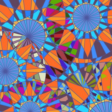 Pattern of colored circles, puzzle