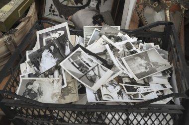 Istanbul's antique district in Çukurcuma, old family photos sold