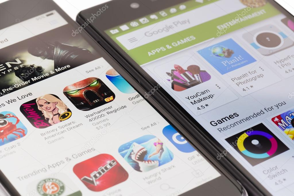 Google Play and Apple App Store – Stock Editorial Photo © ymgerman