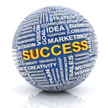 Business success concept, 3d render