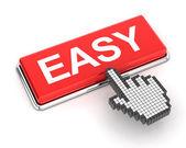 Fotografie Hand cursor clicking an easy button