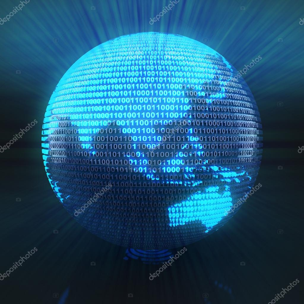 digital globe with map of asia stock photo