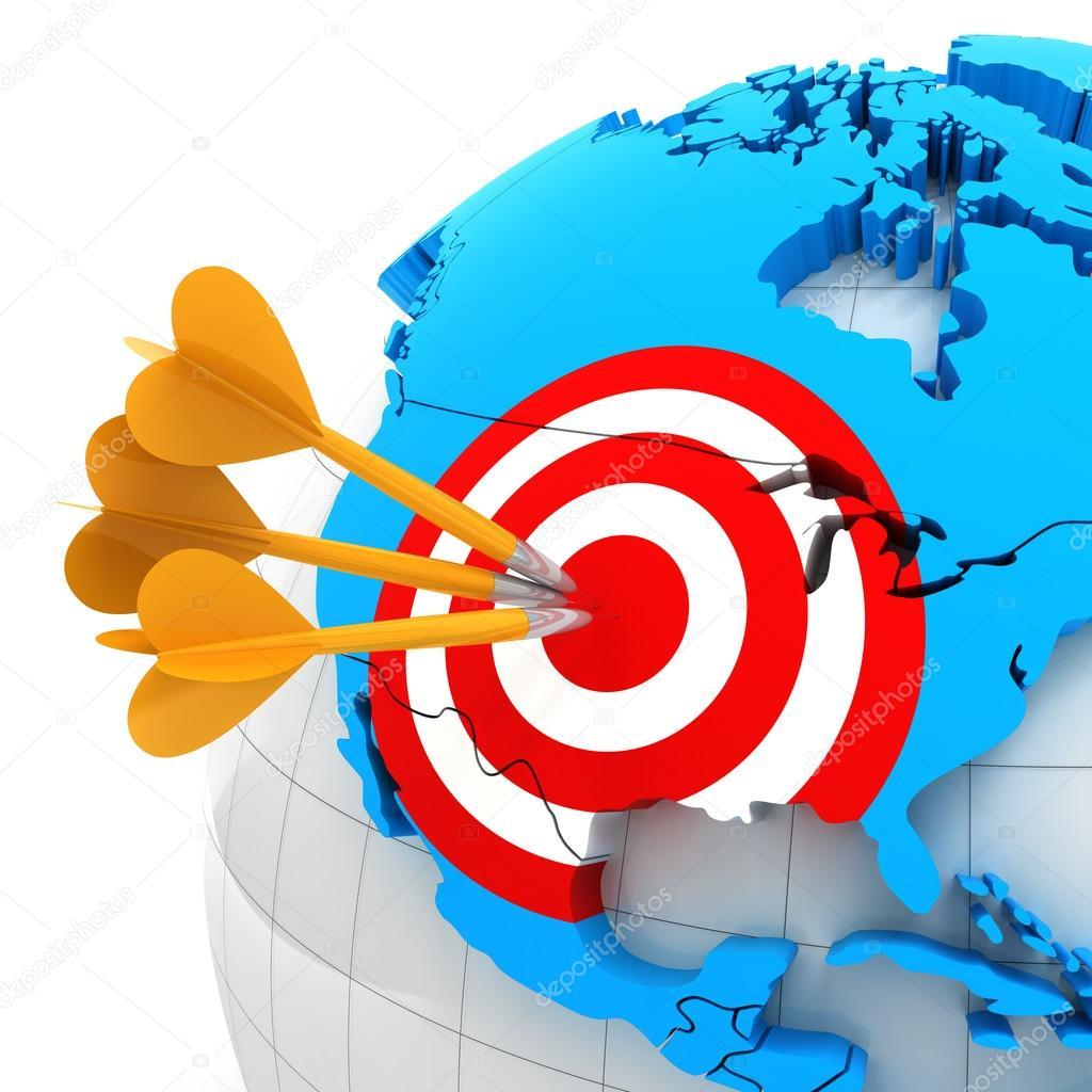 Karte der USA mit target — Stockfoto © ymgerman #70810317 on