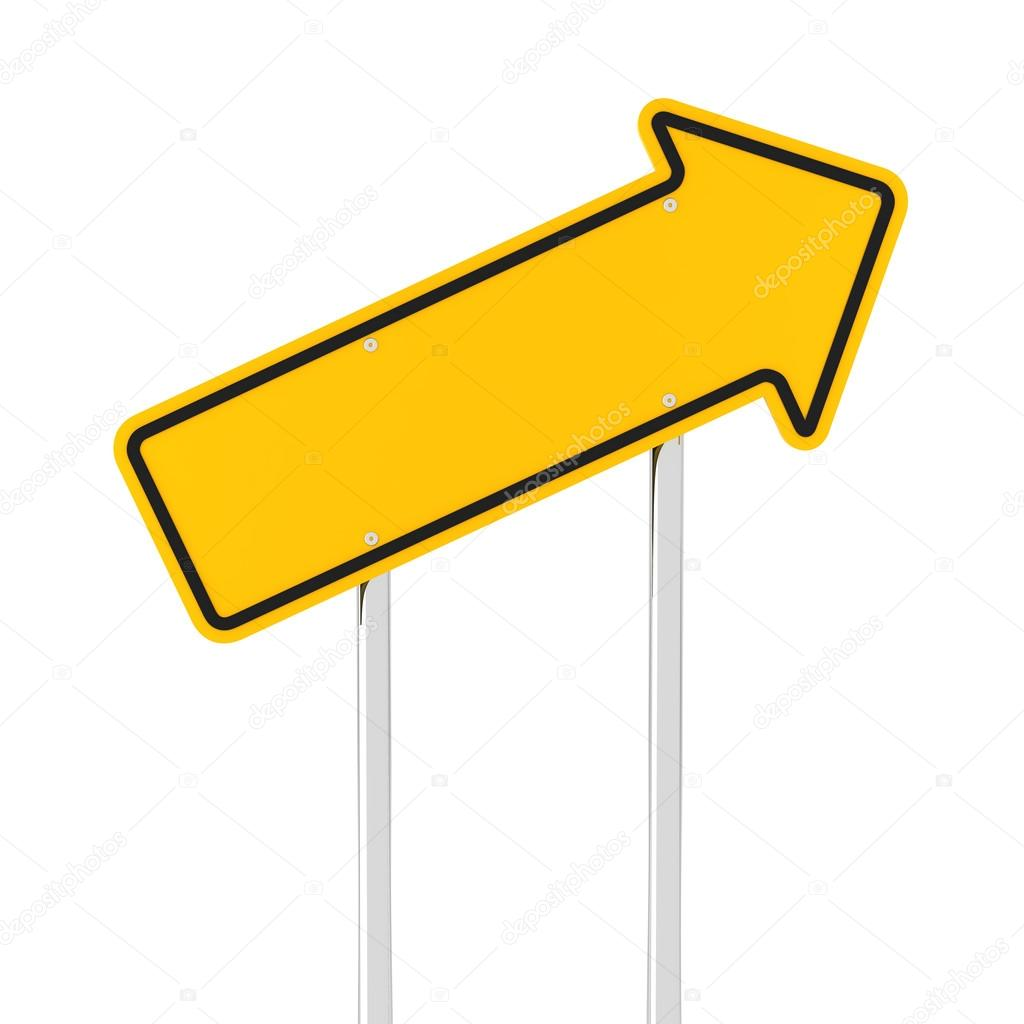 Rising arrow road sign