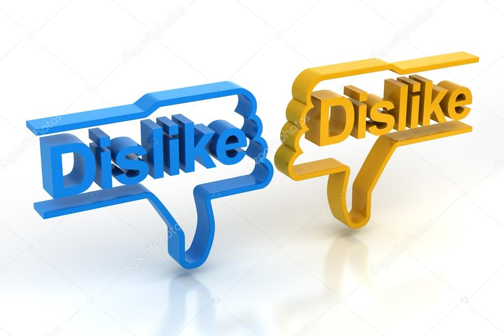 Pair Of Dislike Symbols Stock Photo Ymgerman 71418477